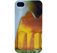 Bier Blase glänzend Hartplastiktelefonkasten für iphone 4/4s