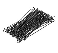 Attache de câble 200mm * 4mm Noir 100pcs