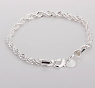 Twisted Alloy Silver Plated Women's Bracelet