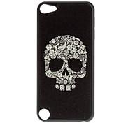 Shimmering crânio e Flores Padrão Hard Case para iPod touch 5