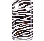 Zwart Wit Zebra TPU Rubber Gel Skin Case Cover voor Samsung Galaxy Ace S5830