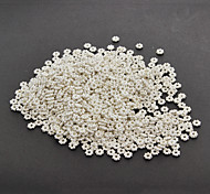Fashion Flower-Shape Silver-Plated Bead (1000pcs/set)