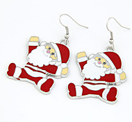 Christmas Gift Santa Claus Drop Earrings