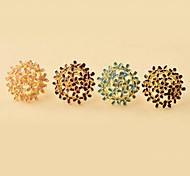 (1 pc) Anneaux en alliage colorés est doux femmes (noir, bleu, violet, rose)