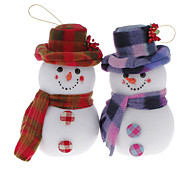 Light Weight 20cm Hatted Snowman Christmas Decoration Christmas Tree Ornament (Random Pattern)