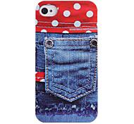 Joyland Jean Pocket Pattern ABS Back Case for iPhone 4/4S