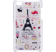 Cartoon Style Lovely Eiffel Tower Pattern Epoxy Hard Case for iPod Touch 4