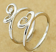 Silver Wedding Couple's Ring(Random Color,A Pair)