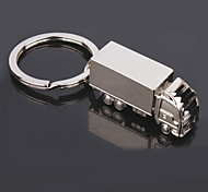 Men's Fashion Truck Shaped Silver Keychains