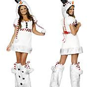 Bianco Pupazzo di neve delle donne di Natale del costume