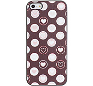 Romantic Hearts inside the Circle Pattern PC Hard Case with Black Frame for iPhone 5/5S