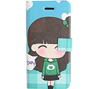 Green Sweater Short Skirt Leather Full Body Case for iPhone 5/5S