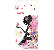 Butterfly Fairy Pattern 3D Carving Plastic Back Cover for Apple NANO7