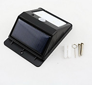 4-LED Solar PIR Montion Sensor Light Wall Mount Outdoor Garden Door Gate Lamp