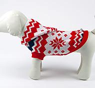 Stylish Christmas Style copos de nieve Patrón suéter caliente para Mascotas Perros (diferentes tamaños)