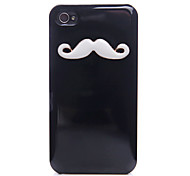 Beard Pttern Metal Back Case for iPhone 4/4S