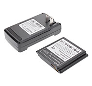 2 x 2800mAh Replacement Battery with Charger for Samsung Galaxy S4 4 IV I9500