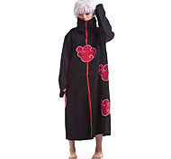 NARUTO Red Clouds Pattern Black Cloak