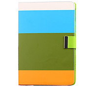 Colorful Rainbow Bar Pattern PU Leather Case with Stand for iPad Air iPad 5(WBGO)
