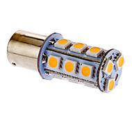 BA15S/1156 18x5050SMD 3.5W 162LM 3000-3500K scaldano la luce bianca LED della lampadina per auto (12V DC)