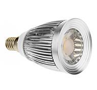 E14 7W 1 COB 600-630 LM Warm White LED Spotlight AC 85-265 V