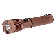 PH-7 recargable monomodo Cree LED Flashlight (1xAA, gris / marrón)