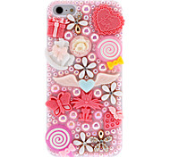 Special Design Pearls and Delicate Gadgets Covered Hard Case for iPhone 5/5S (Assorted Colors)