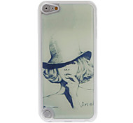 Sketch Design A Sexy Short Hair Girl Pattern Epoxy Hard Case for iPod Touch 5