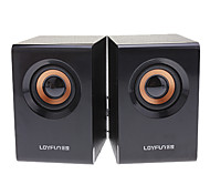 LOYFUN M10 2,0 Woody Mini Hi-fi Stereo Speaker Música para Laptop/Cellphone/MP4/PSP/CD
