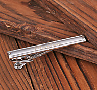 Personalized Gift Men's Silver Metal Engraved Tie Clip