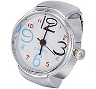 Unisex quadrante bianco della lega di quarzo analogico della vigilanza del braccialetto