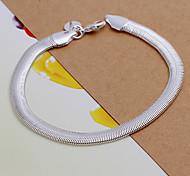 prata corrente de cobre 20,5 centímetros das mulheres doces e pulseira link (prata) (1 pc)