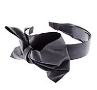 Style européen PU cuir noir bowknot Bandeaux