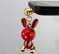 Red  Dust Plug For Anything Phone