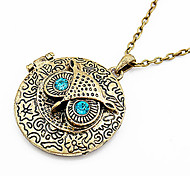Vintage Owl Round Necklace