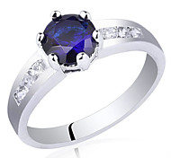 Classic Women 925 Sterling Silver Wedding Ring With Sole Zircon