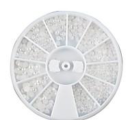 1PCS Rad Mini gemischte Größe White Pearl Nail Art Deko