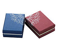 Vintage Multicolor Paper Jewelry Box For Jewelry Set (Dark Blue,Red)(1 Pc)