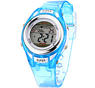 Children's Multifunctional Digital LCD Silicone Band Wrist Watch (Assorted Colors)