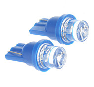 T10 0.2W Blue Light LED Bulb for Car (DC 12V,2 pcs)