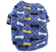Cute Bone Fleece T-shirt for Pets Dogs (Assorted Sizes)