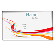 200pcs Personalized 2 Sides Printed Matte Film Rainbow Pattern Business Card