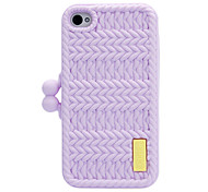 Light Purple Gentlewoman Style Protective Case for iPhone 4/4S
