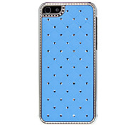 Grid Pattern with Diamond Hard Case for iPhone 5C (Assorted Colors)