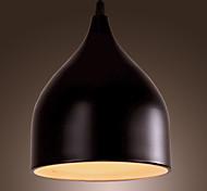 Creative Contemporary 1 Light Pendant with Black Shade