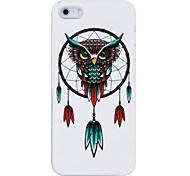 Owl Federn Kunststoff zurück Fall für iPhone 5/5S