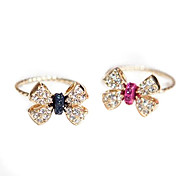 Korean version of the popular small jewelry wholesale 2013 new diamond bow ring (random color)