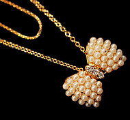 Pearl Bowknot Pendant Necklace