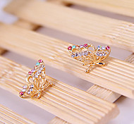 Korean version of the three-dimeearrings butterfly earrings E783