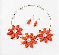 Women Vintage/Party Alloy Necklaces/Earrings Sets